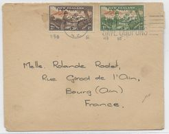 NEW ZEALAND - 1946 - ENVELOPPE => BOURG (AIN) - Covers & Documents