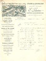 DOCUMENT MANUSCRIT 1926 LOGO USINE Éts E. KLAINE NANTEUIL LE HAUDOUIN OISE ( 60 ) MACHINES AGRICOLES  CROSKILLS - Frankreich