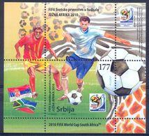 SRB 2010-354-5 FIFA CUP AFRICA, SERBIA, S/S, MNH - Serbie
