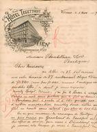 Autriche - Lettre Avec Entête Novembre 1897 - Hôtel Tegetthoff - Vienne Pour Barbezieux (France) - Austria