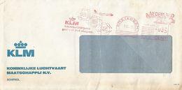 "Netherlands Nederland 1973 Amsterdam KLM Slogan Meter Franking Hasler ""F88/F66"" HR 485 EMA Cover - Marcofilie - EMA (Print Machine)"