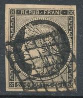 N°3 GRILLE 1849 VARIETE FILETS COUPES. - 1849-1850 Cérès