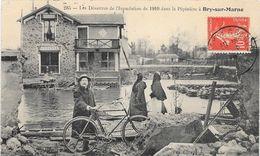 94 BRY SUR MARNE -Les Désastres De L' Inondation 1910. La Pépinière - Animée - Bry Sur Marne
