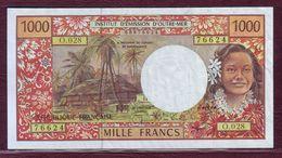 POLYNESIE - Institution D'émission D'outre-mer - 1000 FRANCS TOM ND (1996) - Sign.8 - P.02g - France