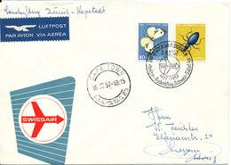 Switzerland Cover Swissair Special Flight Zürich - Cape Town 18-2-1957 - Schweiz