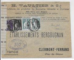 1915 - PORTUGAL - ENVELOPPE Avec DOUBLE CENSURE De LISBONNE => CLERMONT-FERRAND - 1910-... République
