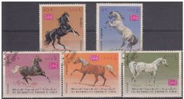 LOTE 1624  ///  (C038)  TEMA FAUNA  - CABALLOS  Yemen 1967 - Pferde
