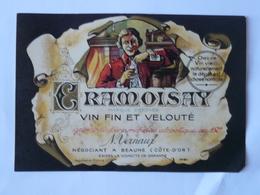 CPA5 - Ancienne étiquette Vin Fin Et Velouté Cramoisay Beaune - Etiquettes