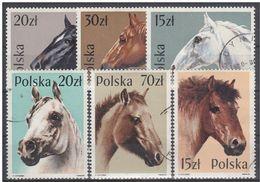 LOTE 1624  ///  (C048)  TEMA FAUNA  - CABALLOS  Polonia 1989   YVERT Nº: 2997/02 - Pferde