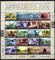 New Zealand.2006 The 75th Anniversary Of Hawke's Bay Earthquake.M/S.MNH - Nieuw-Zeeland