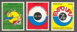Paraguay, 1974, UPU Centenary, United Nations, MNH, Michel 2603-2605 - Paraguay