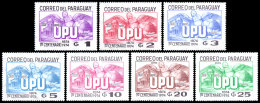 Paraguay, 1975, UPU Centenary, United Nations, MNH, Michel 2639-2645 - Paraguay