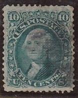 ETAT UNIS YVERT TELLIER NR. 22a AVEC GRILLEEN RELIEF AN 1861  COTATION YVERT TELLIER EUROS 225.- VOIR SCAN - 1847-99 Algemene Uitgaves