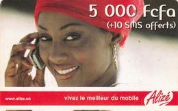 SENEGAL - Alizé - Mobile Refill , Vivez Le Meilleur Du Mobile, 5,000 CFA, Used - Senegal