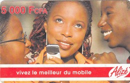 SENEGAL - Alizé - Mobile Refill , Trois Jeunes Femmes, 5,000 CFA, Used - Senegal
