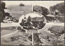 Multiview, Tintagel, Cornwall, C.1960 - Harvey Barton RP Postcard - England