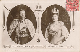 D32781 POSTCARD 1911 GREAT BRITAIN - KING GEORGE V And QUEEN MARY- STAMP KING EDWARD ON FRONT CP ORIGINAL - Royal Families
