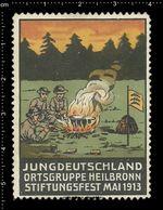German Poster Stamp, Reklamemarke, Cinderella, Scout, Erkunden, Jungdeutschland Ortsgruppe Heilbronn Stiftungsfest Mai. - Scouting