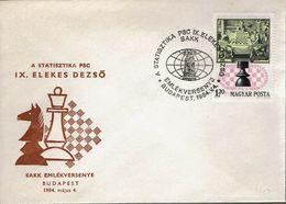 Schach Chess Ajedrez échecs - Ungarn Hungary - Budapest 04.05.1984 - Schaken