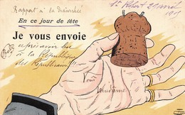 """Illustration - Bouchon """" à Mettre Dans Ton Trou Du Cul """" - Humour Jour De Fête - Illustrateurs & Photographes"""