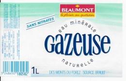 10 étiquettes EAU BEAUMONT - Etiquettes