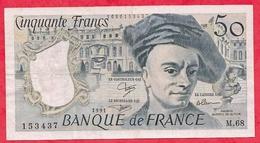 """50 Francs """"Quentin  De La Tour"""" 1991 Série  M.68---- F/TTB+ - 1962-1997 ''Francs''"""