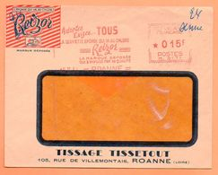 ROANNE   LA SERVIETTE EPONGE QUI VA AU CHLORE   1954 Lettre Entière N° EMA Z 324 - Marcofilia (sobres)
