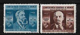 RUMANIA 1945 EFIGIES DE ENGELS Y LENIN NUEVOS - 1918-1948 Ferdinand, Charles II & Michael