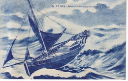 En Mer Bateaux De Peche Fuyant Devant La Tempete  1921 - Houlgate