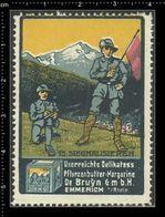 German Poster Stamp, Reklamemarke, Cinderella, Scout, Erkunden, Scout Posing, Erkunden Posierend. - Scouting