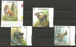 Belgium - 1998 Wildlife MNH **    Sc 1692-5 - Unused Stamps