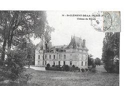 Maine Et Loire. 4 Cpa De Châteaux :Piédonault (Jallais),Lancrau (Champtocé),Rossay (St-Clément) Et Jalesne - Châteaux