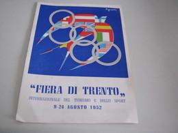 DEPLIANT FIERA DI TRENTO1952 - Dépliants Touristiques