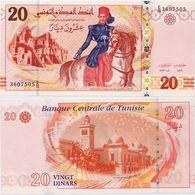 TUNISIA       20 Dinars       P-93b       20.3.2011       UNC - Tunisia
