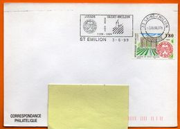 MAURY N° 3233 SAINT EMILION ( Flamme Concordante )  Lettre Entière N° Z 278 - 1961-....