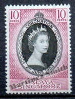 Singapour - Singapore 1953 Yvert 27, Coronation Of Queen Elizabeth II - MNH - Singapore (1959-...)