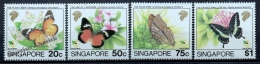 Singapour - Singapore 1993 Yvert 676-79, Fauna. Butterflies - MNH - Singapore (1959-...)
