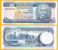 Barbados 2 Dollars P-36 1986 UNC - Barbades