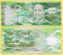 Barbados 5 Dollars P-74 2013 UNC - Barbados