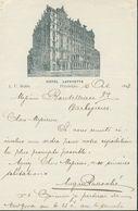 Etats Unis - Lettre Avec Entête De 1893 - Hôtel Lafayette - Philadelphie - Philadelphia  ( Pensylvanie) Pour La France. - Etats-Unis