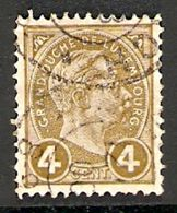 006411 Luxembourg 1895 4c FU - 1895 Adolphe Right-hand Side