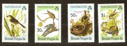 British Virgin Islands Vierges 1985 Yvertn°  535-538  *** MNH Cote 45 FF  Oiseaux Vogels Birds Audubon - Iles Vièrges Britanniques