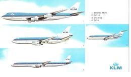 KLM - Fleet (B747 / DC10 / DC8 / DC9)  (Airline Issue) - XXL Card - 1946-....: Moderne