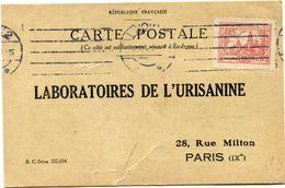 POLOGNE CARTE POSTALE BON POUR UN FLACON ECHANTILLON D'URISANINE DEPART LWOW 12 III 2? POUR LA FRANCE - 1919-1939 Republic
