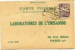 POLOGNE CARTE POSTALE BON POUR UN FLACON ECHANTILLON D'URISANINE DEPART LIDA 9 III 28 POUR LA FRANCE - 1919-1939 Republic