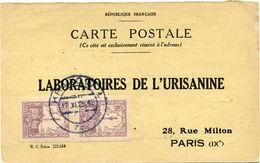 POLOGNE CARTE POSTALE BON POUR UN FLACON ECHANTILLON D'URISANINE DEPART KRAKOW 17 XI 25 POUR LA FRANCE - 1919-1939 Republic