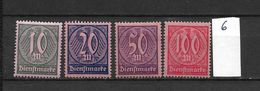 LOTE 1625  ///  ALEMANIA IMPERIO   YVERT Nº: 33/36 - Oficial