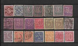 LOTE 1625  ///  ALEMANIA IMPERIO   LOTE DE SELLOS DE SERVICIO - Oficial