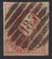 N°12 Obl P185 (Seraing - 8 Barres) - 1858-1862 Medallions (9/12)