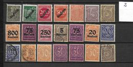 LOTE 1626  ///  ALEMANIA IMPERIO   LOTE DE SELLOS DE SERVICIO - Oficial